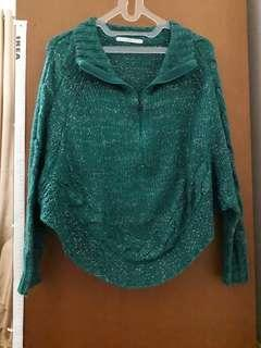 Preloved Marks&spencer knitted green long slevee