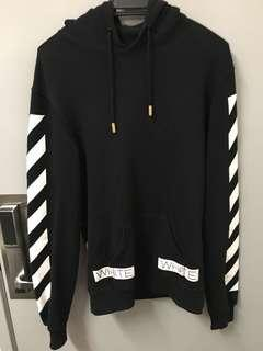 Off White - Blue Collar hoodie (SS 2016)