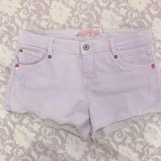 Bershka pink low waist shorts