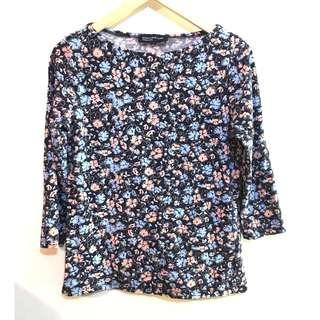 Jones New York Womens Floral Patterned Shirt Top Size Medium