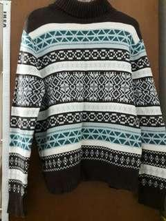 Unisex knitted sweater rajut