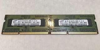 USED Samsung DDR3-1066 1GB Notebook RAM - 2PCs