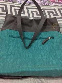 Baggit blue green shoulder bag. Made in India.