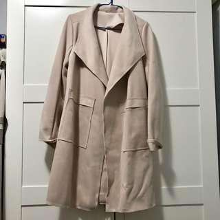 Coat 裸色中長褸