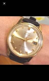 60/70年代 日本名牌 精工 Seiko Sportsmatic Daishock 17 Jewels Automatic Men's Watch 機械自動男仕腕錶: Rare100% Original Japan made Dial and GF Case oversized 37mm,working condition 原裝日本制造靚錶面及包金錶殼超大直徑 37mm ,運作中 。