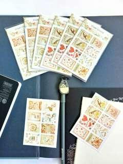 Stamp envelope letter Seal Stickers DIY scrapbooking journal planner deco