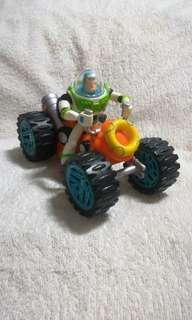 Authentic 2007 Toy Story Disney Pixar Buzz Lightyear Four Wheeler ATV with Pull Back Mechanism