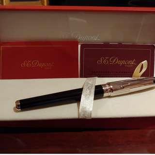S.T. DuPont Pen Olympio XL Black Chine De Lacquer And Palladium Fountain Pen