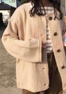 🚚 米色針織外套