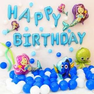 🚚 (In Stock)Deep In The Sea Birthday Party Decoration Set