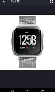 Fitbit versa stainless steel silver bands or straps