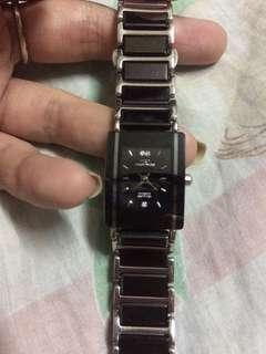 Technos with sapphire stone