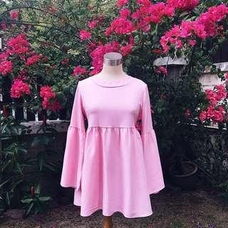 ‼️REDUCED‼️HijabistaHub Babydoll Blouse in Pink