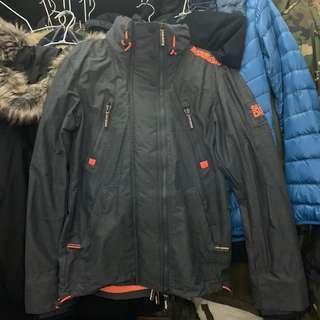 🚚 Superdry 極度乾燥 Windattacker Jacket 防風外套 灰黑S