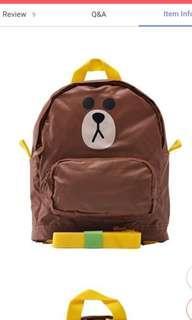 [BNIP] LINE FRIENDS Backpack for kids