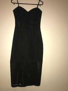 Glassons black midi dress size 8