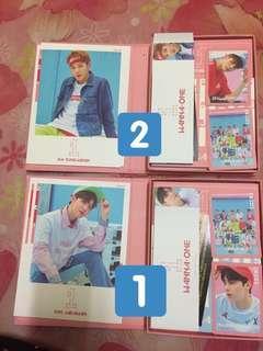 Wanna One albums & membership kit