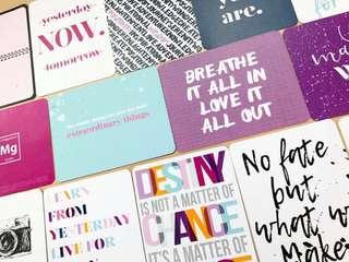 Scrapbook Journal Cards <Here & Now>