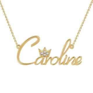 Personalized Princess Beauty Name Necklace (925 Sterling Silver)