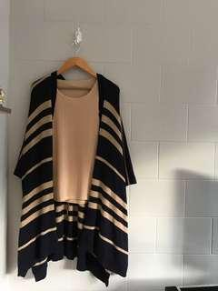 GAP Blue & Gold Open Poncho