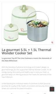 La Gourmet Thermal Wonder Cooker 5.5 L + 1.5 L (Gift Set)