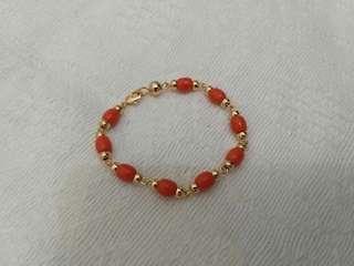 Coral bracelet for adult