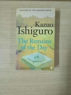 英文小說 the remains of the day,  kazuo ishiguro