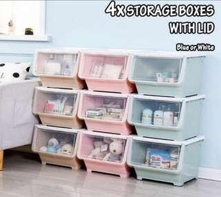 4x Storage boxes