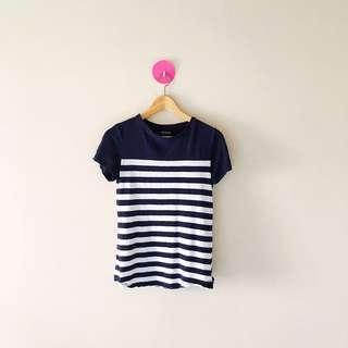 Classic Navy Stripe Tee Shirt