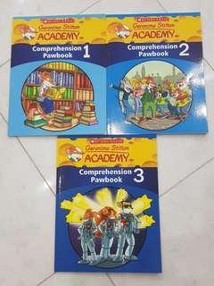 Geronimo Stilton Comprehension Pawbook 1, 2 and 3