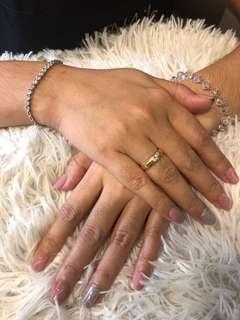 Marble manicure gel