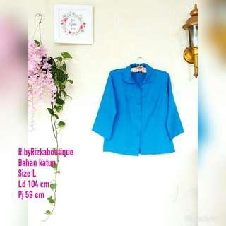 💰WeekendVibe💰 Blue Semi Blazer