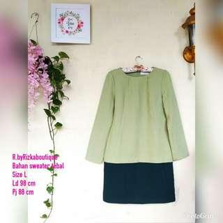 💰WeekendVibe💰 Green Dress Office