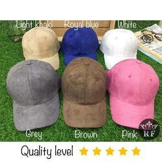 Brown Suede Plain Cap / Hat