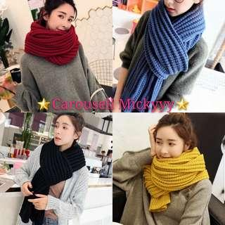 Winter Scarf (Ready Stock Red, Yellow, Navy Blue)