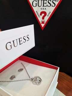 Guess Necklace & Earrings Set