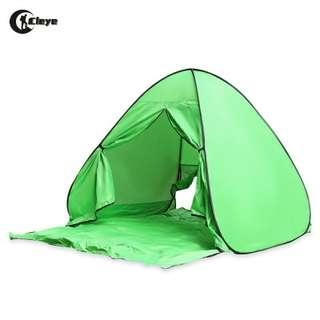 CLEYE INSTANT SETUP 2 PERSONS BEACH TENT WITH DOOR CURTAIN (MOSS)