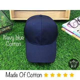 Navy Blue Plain Baseball Cap / Hat