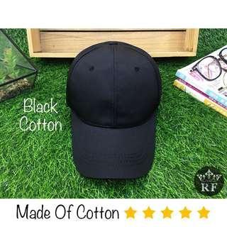 Black Plain Baseball Hat / Cap