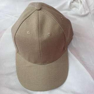Cream Plain Baseball Hat / Cap
