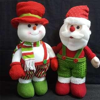 🎉Less 20% Early Bird Discount🎉 Christmas Plush Toy ↪ Santa Claus or Snowman w/ Foot Sand 💱 Original $29.90 Now $23.90 Each Piece