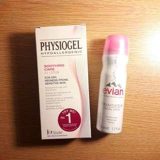 REPRICE Sensitive Skin Package ㅡ Physiogel A.I. Lotion 100ml & Evian Facial Spray 50ml