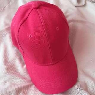 Royal Pink Baseball Plain Hat / Cap