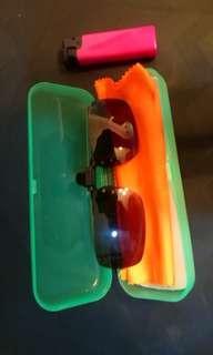 mens clipped sunglass