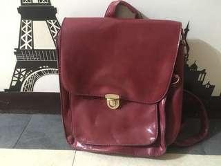 🚚 紅色亮片後背包