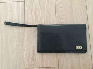Ace Leather Clutch Bag