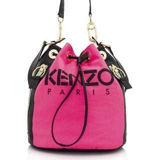 Kenzo Logo Bucket Bag (100% Authentic)