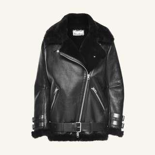 ACNE Studios fur leather jacket