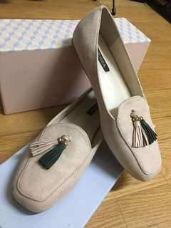 For menggay氣質配色流蘇樂福鞋 loafers