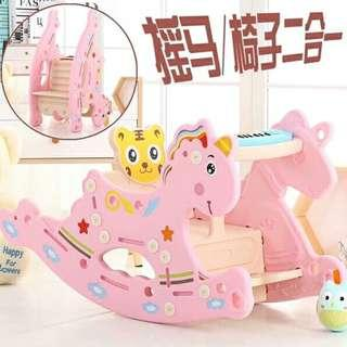 2in1 rocking horse wth piano